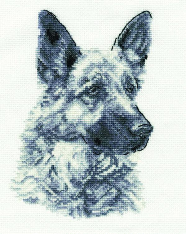 DMC Cross Stitch Kit - German Shepherd BK1695