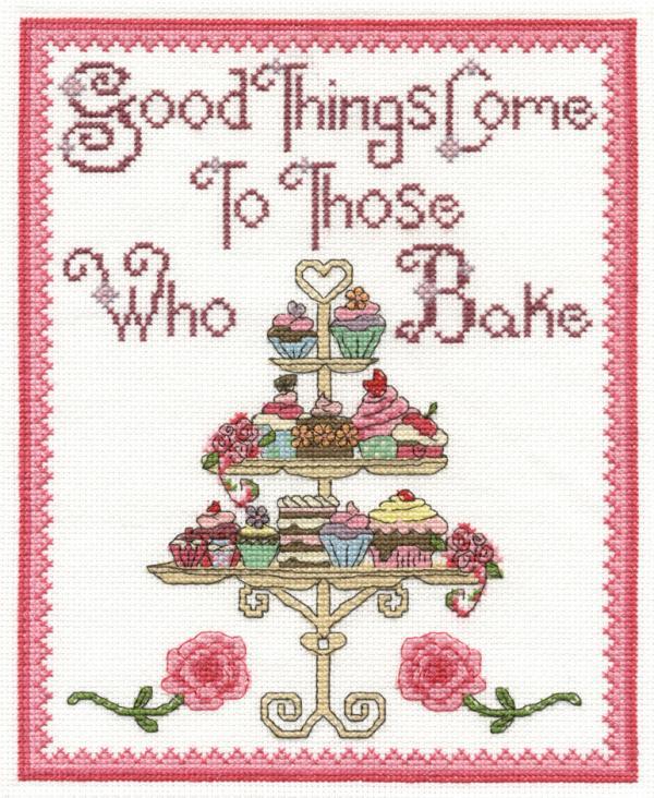 DMC Cross Stitch Kit - Good Things Come to Those who Bake BK1432