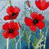 Derwentwater Designs Silken Long Stitch Kit - Wild Poppies
