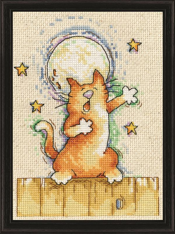 Design Works Cross Stitch Kit - Singing Cat