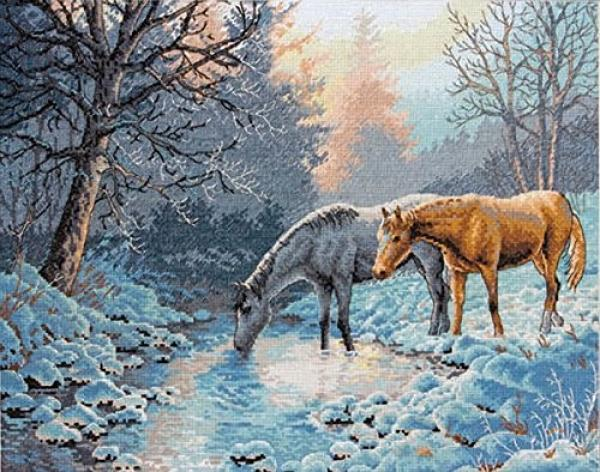 Dimensions Cross Stitch Kit - Gold Collection, Frosty Morning