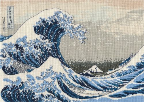 DMC Cross Stitch Kit - British Museum - The Great Wave BL1145/73