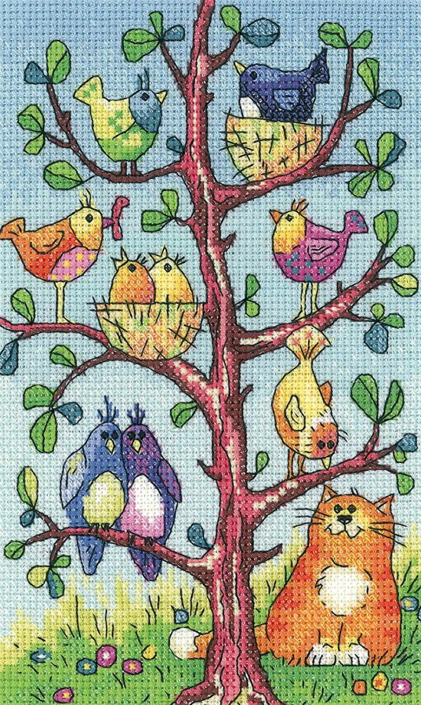 Heritage Crafts Cross Stitch Kit - Bird Watching