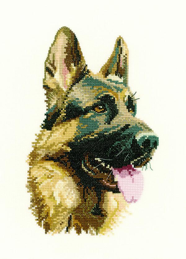 Heritage Crafts Cross Stitch Kit - Cash - German Shepherd