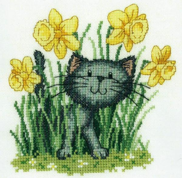 Heritage Crafts Cross Stitch Kit - Cats Rule, Its Spring