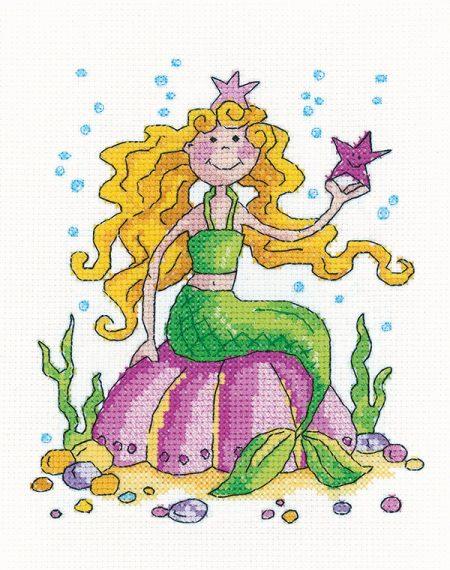 Heritage Crafts Cross Stitch Kit - Karen Carter Collection - Mermaid