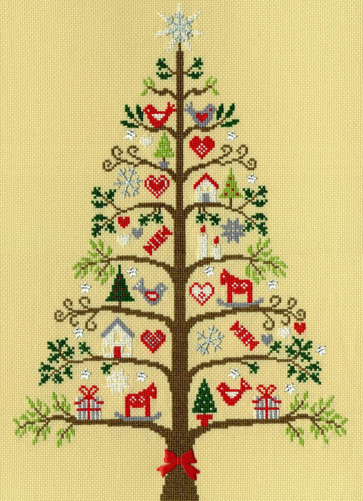 Bothy Threads Cross Stitch Kit - Scandi Tree XX9