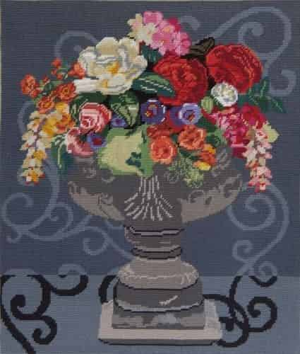 DMC Preprinted Canvas Tapestry - Abundant Bouquet
