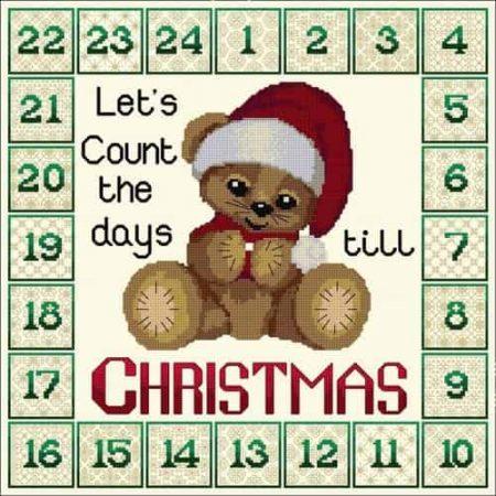 Doodlecraft Design Cross Stitch and Blackwork Kit - Christmas Advent Calender
