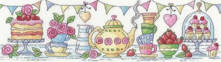 Heritage Crafts Cross Stitch Kit - Afternoon Tea