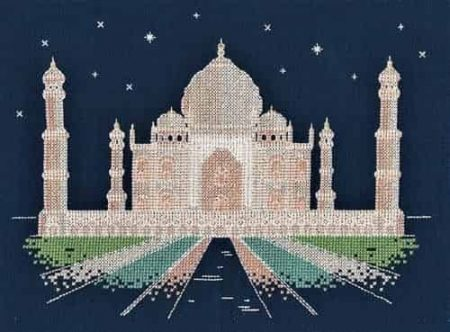 DMC Cross Stitch Kit - Agra By Night - Glow in the D Architecture BK1726