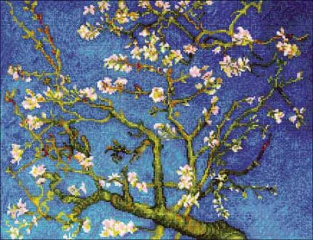 Riolis Cross Stitch Kit - Almond Blossom after Van Gogh Painting