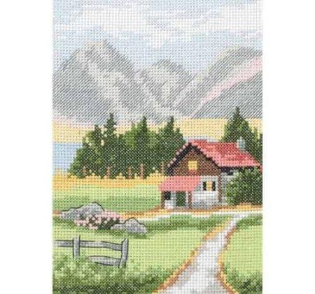 Anchor Cross Stitch Kit - Alpine Lodge AK128
