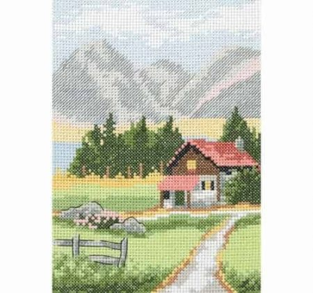Anchor Cross Stitch Kit - Alpine Lodge AK128