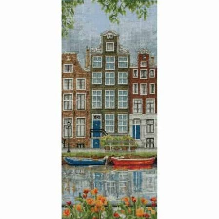 Anchor Cross Stitch Kit - Amsterdam Street Scene PCE0814