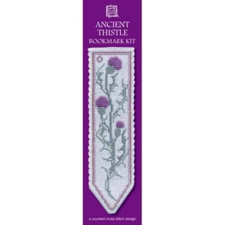 Textile Heritage Cross Stitch Kit - Bookmark - Ancient Thistle - Made in Scotland