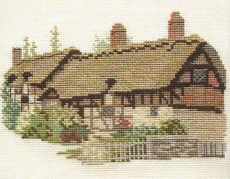 Derwentwater Designs Cross Stitch Kit - Anne Hathaways Cottage