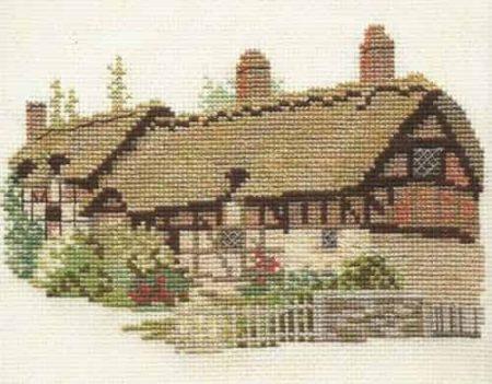 Derwentwater Designs Cross Stitch Kit - Anne Hathaways Cottage