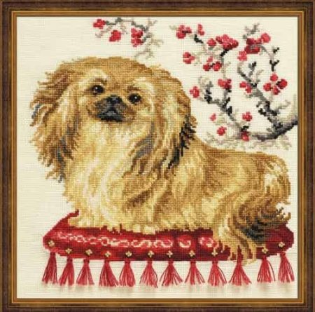 Riolis Cross Stitch Kit - Pekinese, Dog - R1243