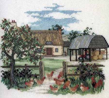 Derwentwater Designs Cross Stitch Kit - Appletree Farm