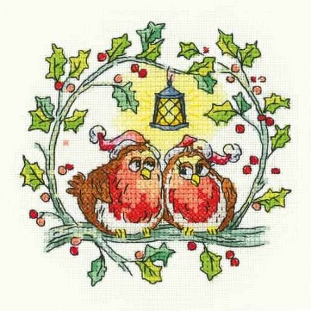 Owl in Flight 27 count evenweave Heritage Crafts Cross Stitch Kit