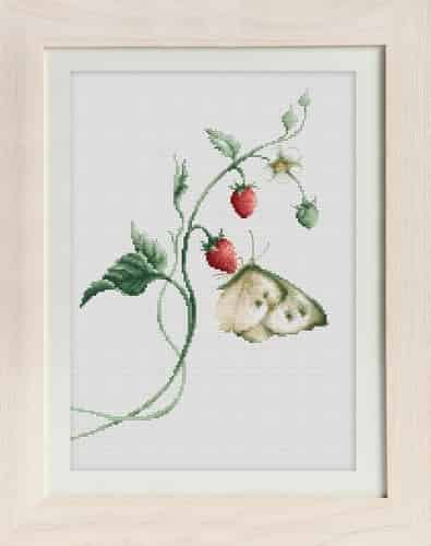 Luca S Cross Stitch Kit - Aroma of Summer (Butterfly)