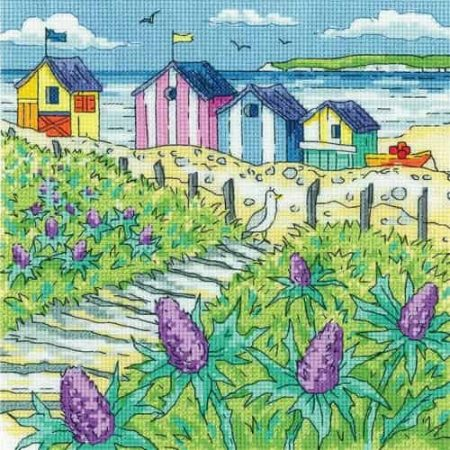 Heritage Crafts Cross Stitch Kit - By the Sea - Sea Holly Shore