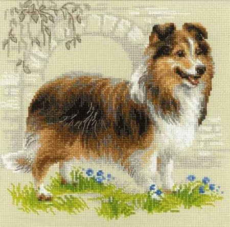 Riolis Cross Stitch Kit - Sheltie, Dog - R1710