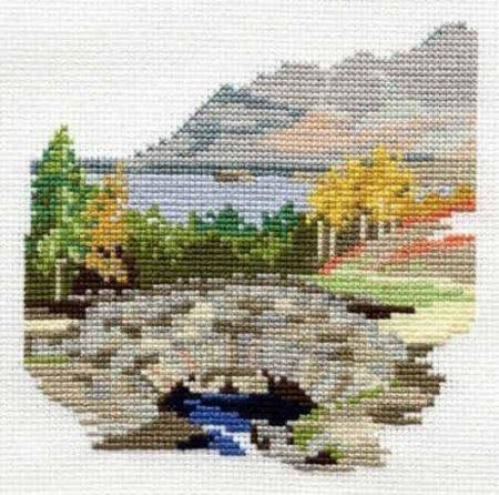 Derwentwater Designs Cross Stitch Kit - Dales Designs - Ashness Bridge