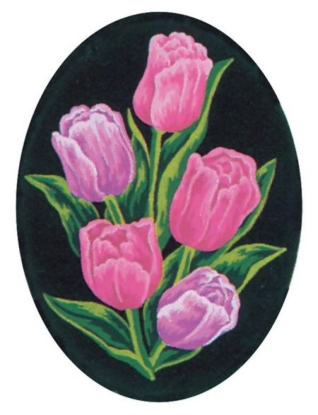 Collection D'Art Printed Tapestry Needlepoint Canvas - Tulips