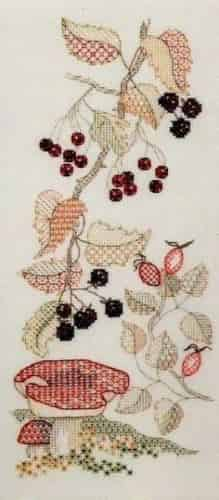 Derwentwater Designs Backstitch Kit - Seasons Panels - Autumn