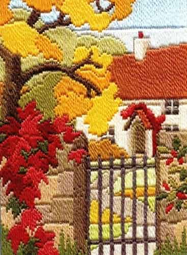 Derwentwater Designs Long Stitch Kit - Seasons, Autumn Garden