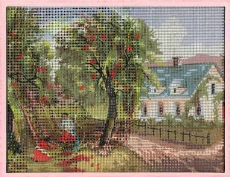 Grafitec Needlepoint Tapestry Kit - Autumn, Landscape, Cottage