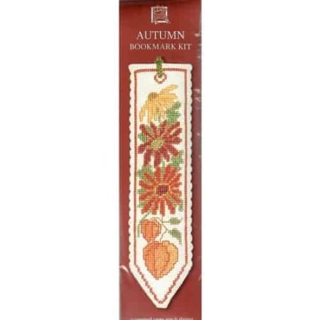 Textile Heritage Cross Stitch Kit - Bookmark - Autumn - Made in Scotland