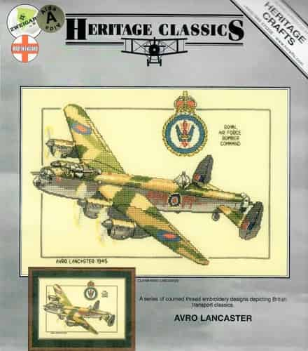 Heritage Crafts Cross Stitch Kit -  Avro Lancaster