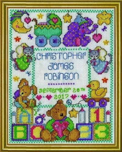 Design Works Cross Stitch Kit - ABC Baby Sampler