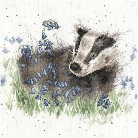 Bothy Threads Cross Stitch Kit - Bluebell Wood - Badger