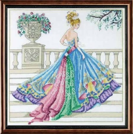 Janlynn Platinum Cross Stitch Kit - The Ballgown, Lady