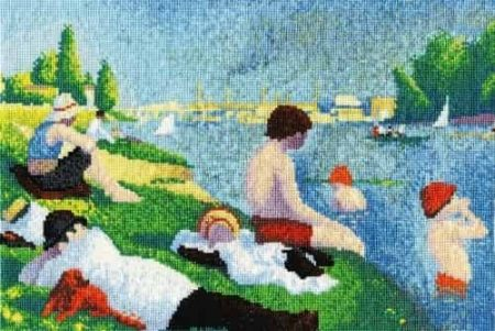 DMC Cross Stitch Kit - National Gallery - Seurat Bathers at Asnieres BL1065/71