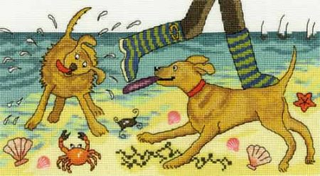 Bothy Threads Cross Stitch Kit - Beach Walkies XJR30