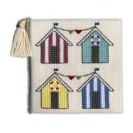 Textile Heritage Cross Stitch Kit - Beach Hut Needlecase - Made in Scotland