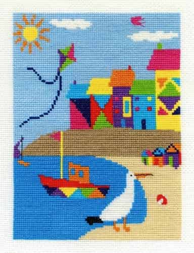 DMC Cross Stitch Kit - Beach Houses BK1556