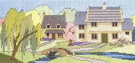Derwentwater Designs Long Stitch Kit - Lanes Series - Beckside Lane
