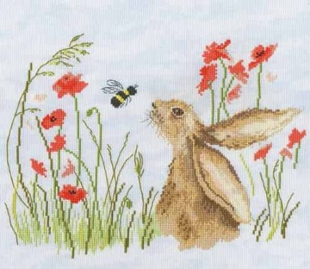 Bothy Threads Cross Stitch Kit - Love Country - Bee Lovely - Hare, Bee