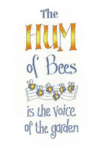 Heritage Crafts Peter Underhill Cross Stitch Kit - The Hum Of Bees