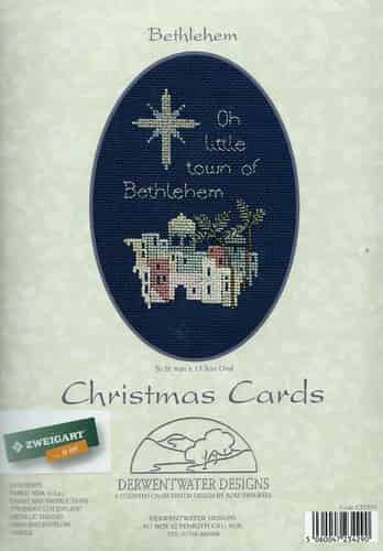 Derwentwater Designs Cross Stitch Kit - Christmas Card, Bethlehem