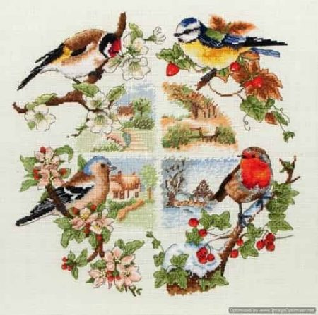 Anchor Cross Stitch Kit - Birds and Seasons PCE880