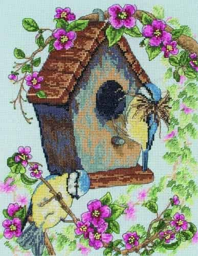 Anchor Cross Stitch Kit - The Bird House PCE742