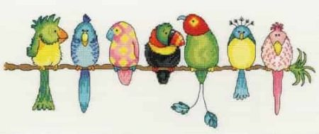 Bothy Threads Cross Stitch Kit - Exotic Birds XGR1