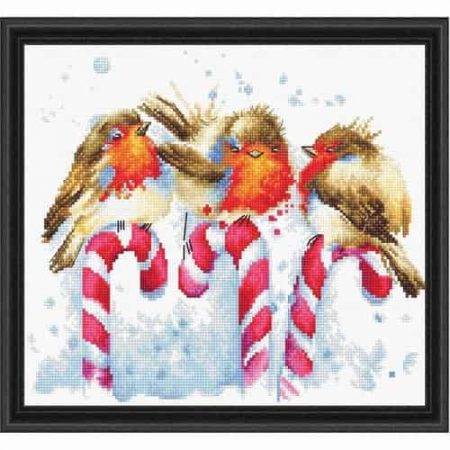 Luca S Cross Stitch Kit - Christmas Birds B1154